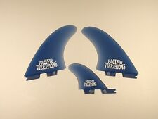PACIFIC VIBRATIONS FCSII Fcs2  Stussy template Twin + trailer surfboard Fins