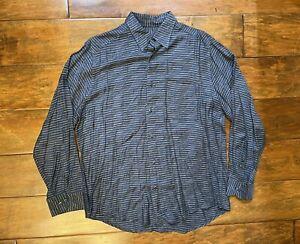 Vintage Jhane Barnes Menswear Long Sleeve Designer Shirt Mens Size Large 92618