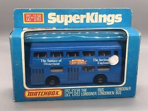 "Matchbox Superkings K-15 The Londoner ""Alton Towers""  Boxed"