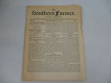 Victorian Age Agriculture The Southern Farmer Newspaper Antique Farm 1896