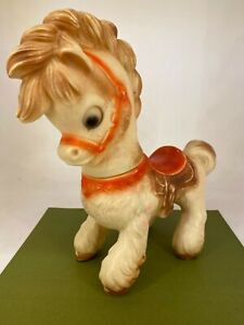 Vintage Rubber Squeaky Childrens Pony / Horse Toy - 28cm