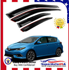 Fit 16 17 18 Scion Toyota corolla iM OE JDM STYLE SMOKED WINDOW VISOR VENT SHADE