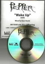 PEPPER Wake up w/ OFFSPRING & 311 TOUR MENTION 2010 TST PRESS PROMO DJ CD single