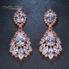 Ohrhänger Luxury Ohrringe Zirkonia AAA Swarovski Kristalle STELLUX™ Rose Gold