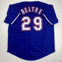 New ADRIAN BELTRE Texas Blue Custom Stitched Baseball Jersey Size Men's XL