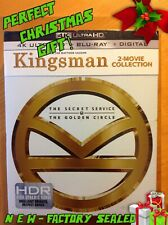 KINGSMAN 2-Movie Collection (4K UHD Blu-ray) *NEW/SEALED* Great Xmas gift!