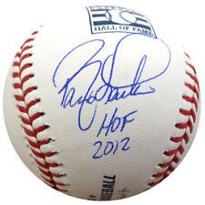 """Barry Larkin Autographed Hof Logo Mlb Baseball Reds """"Hof 2012"""" Beckett 135926"""