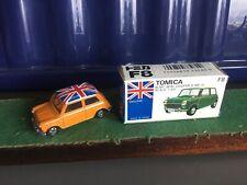Tomica, Vintage Mini Cooper S, 1979 Tomy F8, Rare Model,Boxed Orange Union Jack