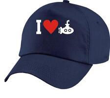 Basecap, Mütze, I Love U-Boot, Tauchboot, Kapitän