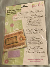 JustRite Stamps Friendship Nested Sentiments Phrases Friends Horizontal