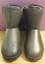 BNWT Primark Pewter Grey Fur Lined Sparkle Ankle Boots - Size 6