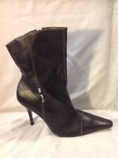 River Island Black Ankle Leather Boots Size 6