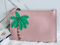 NWT Kate Spade On Purpose Embellished Palm Leather Rosy Wristlet Purse was $128