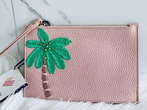NWT Kate Spade On Purpose Embellished Palm Leather Rosy Wristlet Purse LAST ONE