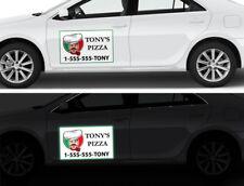 Business Sign Custom Print Reflective Car Magnet Size: 8''x10''