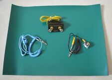 "Green Desktop Anti Static ESD Grounding Mat 12x16"" + Cord + Wrist Strap + Ground"