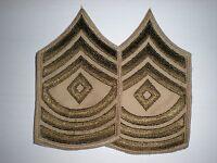 US ARMY WWII SUMMER FIRST SERGEANT STRIPES -ORIGINAL-- 1 PAIR