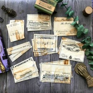 Coffee Dyed Paper For DIY Junk Journal Planner Scrapbook Album Decoration Crafts