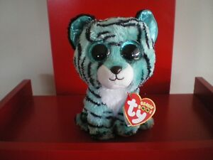 Ty Beanie Boos TESS tiger 6 inch NWMT. Justice Exclusive. VERY HARD TO FIND.