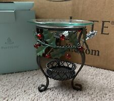 New ListingPartylite Holly Lites Aroma Melts Warmer P9910 Euc Holly Berries Metal Tealight