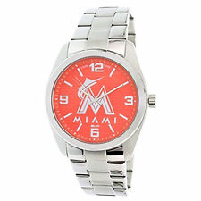 Game Time Miami Marlins Men's Stainless Steel Watch ~ Brand New with Tags