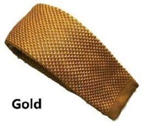 Golden Mustard Collection Woven Paisley Jacquard Knit Satin Tie Wedding lot