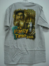 New Men's Duck Dynasty T-Shirt Light Grey Size Large #114H