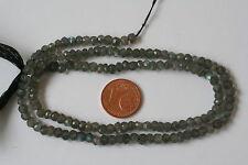 Labradorit-Strang(Rondell, fac.4x2-3 mm) J-0198/J