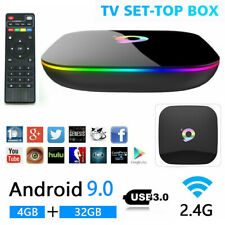 Q Plus 6K Quad Core 4GB +32GB Android 9.0 Smart TV Box HDMI WIFI Media Streamers