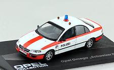Opel Omega Polizei Schweiz 1994-1998 1:43 IXO / Altaya Modellauto