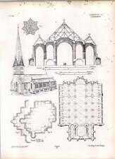 Gothic LUNEBURG Plan de St John's Church Key Vault Sanctuaire