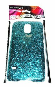 Samsung S5 Case NIP - TURQUOISE Blue Mini Sequins Shimmery Sparkling