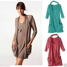 Cotton 3/4 Sleeve Stretch Dresses for Women