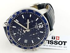 Tissot T0954171604700 Quickster Blue Dial Blue Leather Strap Men's Watch -NEW
