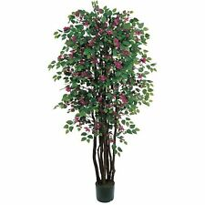 Decorative Natural Looking Artificial Floral 6' Bougainvillea Silk Tree Plants