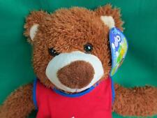 NEW ANIMAL PALS RED BLUE BASKETBALL JERSEY SHORT TEDDY BEAR PLUSh PLAYER 1 GAME