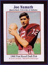 Joe Namath, '65 St. Louis Cardinals rare NFL Draft Pick card Superior original