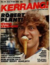 Kerrang No:18 1982  Robert Plant Journey Iron Maiden Rory Gallagher Nernie Torme