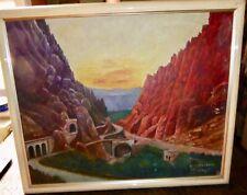 Orientalisme tableau peinture huile El Kantara côté nord signé M PREVOST