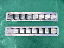 """STAINLESS STEEL BOAT MARINE BILGE VENTS 8 RAISED LOUVER 16-3/8"""" LONG x 2-7/8"""" W"""