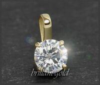 Diamant Brillant Anhänger mit 0,57 ct mit Reinheit: VVS; 585 Gold Damenanhänger