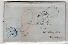 SCOT - LANARKSHIRE: 1850 entire letter with CARNWATH UDC (C29306)