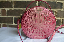 NWT $245 BRAHMIN Lane LOTUS MELBOURNE Canteen Leather Crossbody PINK Margenta