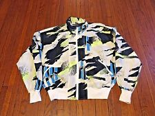VTG 90's Nike Challenge Court White Green Blue Agassi Windbreaker Jacket sz S