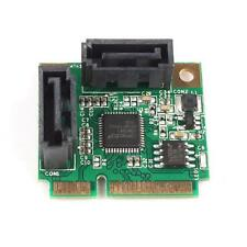 Best Mini PCI-Express to 2 Ports SATA 3.0 III 6Gb/s Expansion Card Single Chip