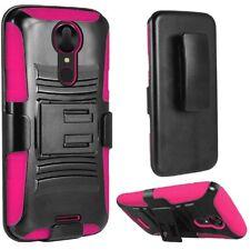 Holster Belt Clip + Hybrid Cover Phone Case For T-Mobile Coolpad Revvl Plus