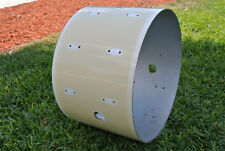 "VINTAGE GRETSCH USA 22"" WHITE NITRON BASS DRUM SHELL for YOUR DRUM SET! #B322"