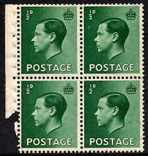 1936 Edward Viii Definitive Part Booklet Pane Upright Wmk Sg457 Unmounted Mint