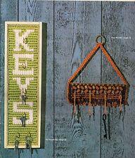 BOOK ONLY #MM271 Macrame Royale -Vintage Key Rack Pattern Decorative Organizer