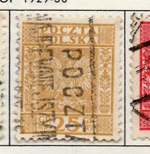 Poland 1929-38 Early Issue Fine Used 25g. 190909